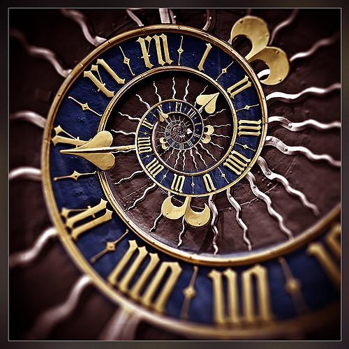 clock falling